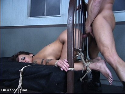 Photo number 14 from The Cock Feeding shot for Fucked and Bound on Kink.com. Featuring Marcus London and Regan Reese in hardcore BDSM & Fetish porn.