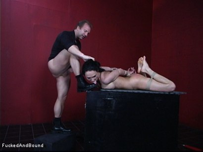 Photo number 4 from The Willing Slave shot for  on Kink.com. Featuring Victoria Sin and Brandon Iron in hardcore BDSM & Fetish porn.