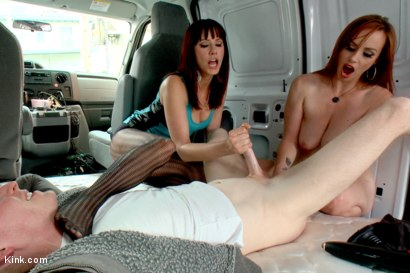 Photo number 13 from FemDom Teasing and Edging Test Shoot: FemDom Fuck Bus! shot for Kink Test Shoots on Kink.com. Featuring Rob Yaeger, Bella Rossi and Maitresse Madeline Marlowe in hardcore BDSM & Fetish porn.