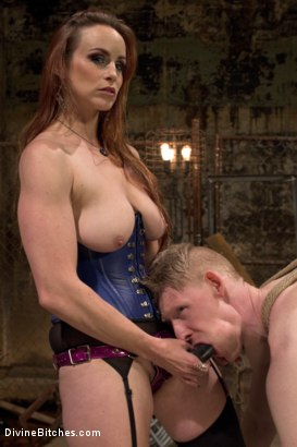 Photo number 2 from Rough Femdom Bondage Sex! shot for Divine Bitches on Kink.com. Featuring Rob Yaeger and Bella Rossi in hardcore BDSM & Fetish porn.