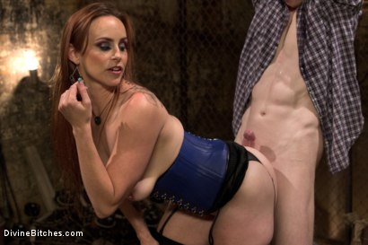Photo number 3 from Rough Femdom Bondage Sex! shot for Divine Bitches on Kink.com. Featuring Rob Yaeger and Bella Rossi in hardcore BDSM & Fetish porn.