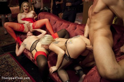 Photo number 9 from Ass Eating Slap Fight Anal Foursome shot for The Upper Floor on Kink.com. Featuring Aiden Starr, Bill Bailey, Claire Robbins and Christie Stevens in hardcore BDSM & Fetish porn.