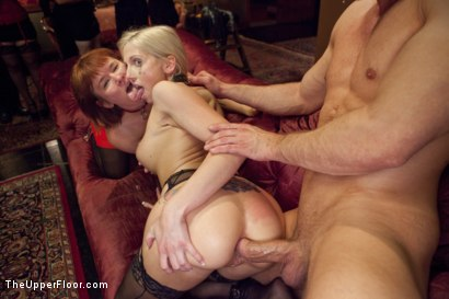 Photo number 7 from Ass Eating Slap Fight Anal Foursome shot for The Upper Floor on Kink.com. Featuring Aiden Starr, Bill Bailey, Claire Robbins and Christie Stevens in hardcore BDSM & Fetish porn.