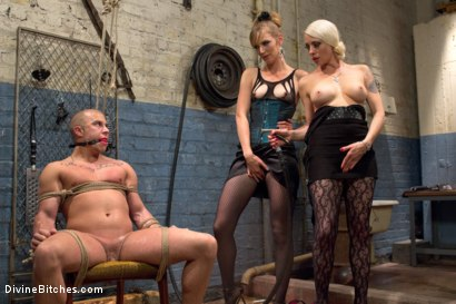 Photo number 15 from Femdom Revenge: Lorelei Lee and Mona Wales Punish Misbehaved Man shot for Divine Bitches on Kink.com. Featuring Mona Wales, Eli Hunter and Lorelei Lee in hardcore BDSM & Fetish porn.
