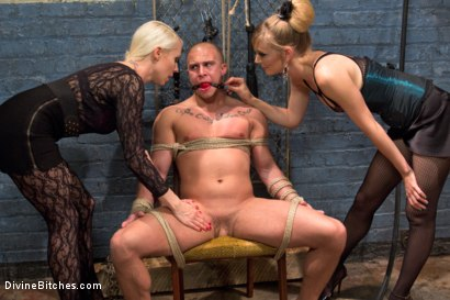Photo number 2 from Femdom Revenge: Lorelei Lee and Mona Wales Punish Misbehaved Man shot for Divine Bitches on Kink.com. Featuring Mona Wales, Eli Hunter and Lorelei Lee in hardcore BDSM & Fetish porn.