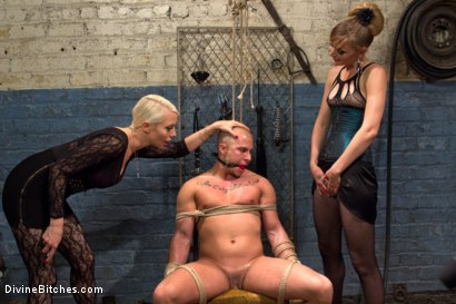 Photo number 4 from Femdom Revenge: Lorelei Lee and Mona Wales Punish Misbehaved Man shot for Divine Bitches on Kink.com. Featuring Mona Wales, Eli Hunter and Lorelei Lee in hardcore BDSM & Fetish porn.