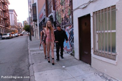 Photo number 13 from Pounded in a biker bar- First ever boy/girl scene! shot for Public Disgrace on Kink.com. Featuring Ariel X, John Strong and Jeze Belle in hardcore BDSM & Fetish porn.