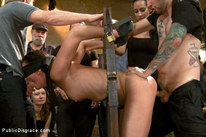 Photo number 4 from Filthy whore fucked in bondage shot for Public Disgrace on Kink.com. Featuring Tommy Pistol, Isis Love and Bianca Breeze in hardcore BDSM & Fetish porn.