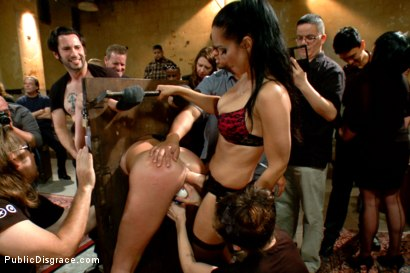 Photo number 12 from Filthy whore fucked in bondage shot for Public Disgrace on Kink.com. Featuring Tommy Pistol, Isis Love and Bianca Breeze in hardcore BDSM & Fetish porn.