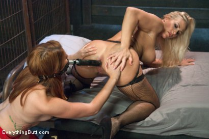 Photo number 8 from Innocent Redhead gets Ass Fucked by Sexy Blonde Domme shot for Everything Butt on Kink.com. Featuring Angel Allwood and Rose Red in hardcore BDSM & Fetish porn.