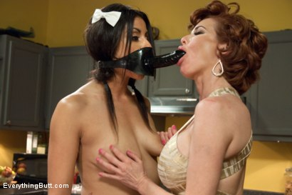 Photo number 5 from Milk from the Anal Maid shot for Everything Butt on Kink.com. Featuring Katrina Zova and Veronica Avluv in hardcore BDSM & Fetish porn.