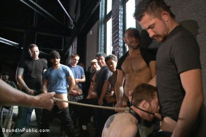 Photo number 10 from We're going to get our money's worth, one way or another... shot for Bound in Public on Kink.com. Featuring Dayton O'Connor, Seamus O'Reilly and Leo Forte in hardcore BDSM & Fetish porn.