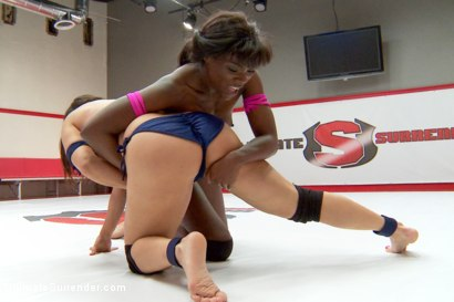 Photo number 15 from Welcome to SUMMER VENGEANCE. Winner takes loser right after buzzer shot for Ultimate Surrender on Kink.com. Featuring Ana Foxxx and Lea Lexis in hardcore BDSM & Fetish porn.