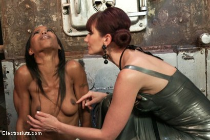 Photo number 11 from The Return of Maitresse Madeline shot for Electro Sluts on Kink.com. Featuring Maitresse Madeline Marlowe  and Marie Luv in hardcore BDSM & Fetish porn.
