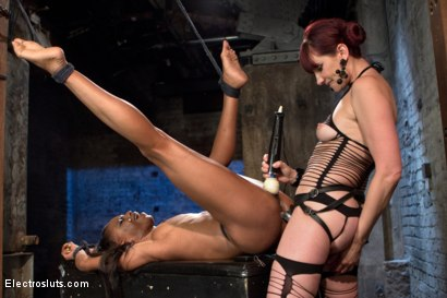 Photo number 20 from The Return of Maitresse Madeline shot for Electro Sluts on Kink.com. Featuring Maitresse Madeline Marlowe  and Marie Luv in hardcore BDSM & Fetish porn.
