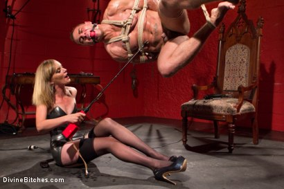 Photo number 5 from ELECTRO FEMDOM: Mona Wales Electrically Teases and Torments Slave Boy shot for Divine Bitches on Kink.com. Featuring Mona Wales and Brock Avery in hardcore BDSM & Fetish porn.