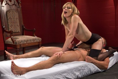 Photo number 9 from ELECTRO FEMDOM: Mona Wales Electrically Teases and Torments Slave Boy shot for Divine Bitches on Kink.com. Featuring Mona Wales and Brock Avery in hardcore BDSM & Fetish porn.