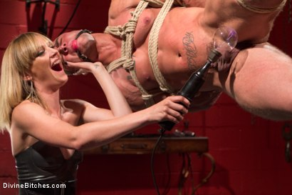 ELECTRO FEMDOM: Mona Wales Electrically Teases and Torments Slave Boy