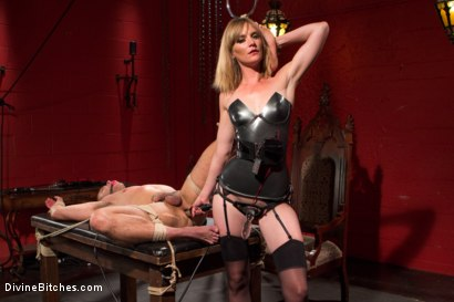 Photo number 11 from ELECTRO FEMDOM: Mona Wales Electrically Teases and Tortures Slave Boy shot for Divine Bitches on Kink.com. Featuring Mona Wales and Brock Avery in hardcore BDSM & Fetish porn.
