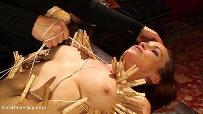 Photo number 16 from Clothespin Zippers: with Flaming June and Bella Rossi shot for Kink University on Kink.com. Featuring Bella Rossi and Flaming June in hardcore BDSM & Fetish porn.