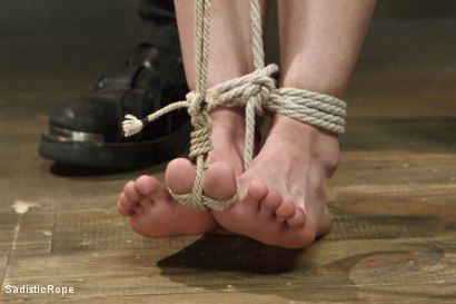 Photo number 3 from Petite Blonde Gets Destroyed in Extreme Bondage shot for Sadistic Rope on Kink.com. Featuring Jeze Belle in hardcore BDSM & Fetish porn.