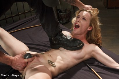 Photo number 5 from Petite Blonde Gets Destroyed in Extreme Bondage shot for Sadistic Rope on Kink.com. Featuring Jeze Belle in hardcore BDSM & Fetish porn.
