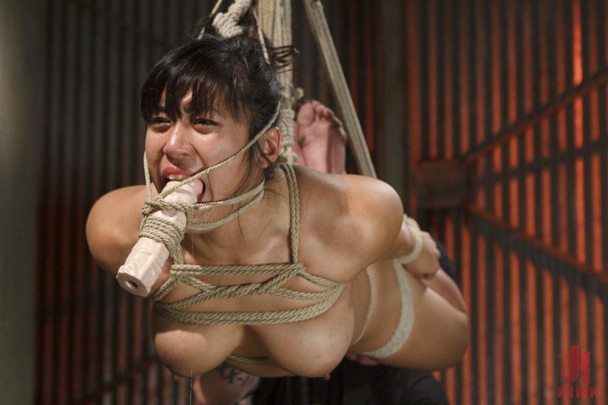 Brutal asian bondage