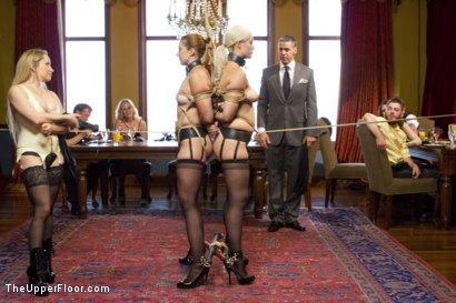 Photo number 2 from Double Penetration Anal Slave shot for The Upper Floor on Kink.com. Featuring Karlo Karrera, Aiden Starr, Rose Red and Jenna Ivory in hardcore BDSM & Fetish porn.