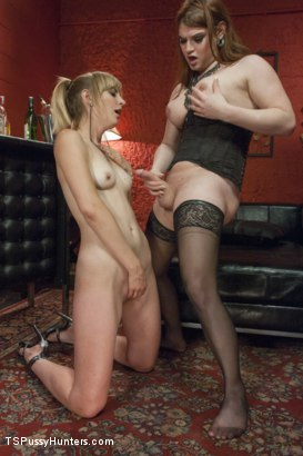Photo number 14 from Hot and Dirty Party Sex with Tiffany Starr and Mona Wales shot for TS Pussy Hunters on Kink.com. Featuring Tiffany Starr and Mona Wales in hardcore BDSM & Fetish porn.