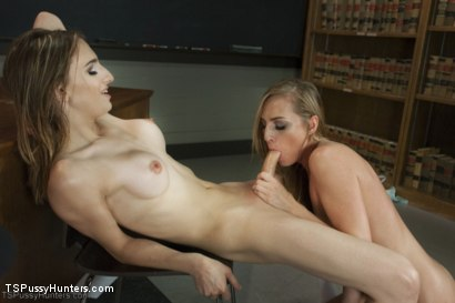 Photo number 8 from Class Attention: Kelly Klaymour Punishes with Her Huge Cock shot for TS Pussy Hunters on Kink.com. Featuring Roxy Rox  and Kelly Klaymour in hardcore BDSM & Fetish porn.