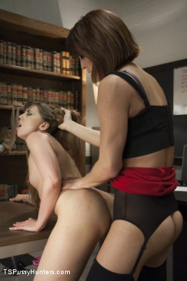 Photo number 9 from Audit Her Cock: Seducing the IRS  shot for TS Pussy Hunters on Kink.com. Featuring Amber Chase and Kendra Sinclaire in hardcore BDSM & Fetish porn.