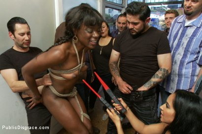 Photo number 7 from Disgraced. Twice! Ana Foxxx takes it all. shot for Public Disgrace on Kink.com. Featuring Ana Foxxx, Isis Love and Tommy Pistol in hardcore BDSM & Fetish porn.