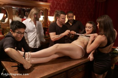 Photo number 2 from 19 year old All Natural Slut Gets fucked in Bondage at an elegant party shot for Public Disgrace on Kink.com. Featuring Mandy Muse, Mr. Pete and Ariel X in hardcore BDSM & Fetish porn.