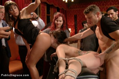 Photo number 11 from 19 year old All Natural Slut Gets fucked in Bondage at an elegant party shot for Public Disgrace on Kink.com. Featuring Mandy Muse, Mr. Pete and Ariel X in hardcore BDSM & Fetish porn.