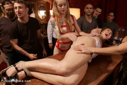 Photo number 3 from 19 year old All Natural Slut Gets fucked in Bondage at an elegant party shot for Public Disgrace on Kink.com. Featuring Mandy Muse, Mr. Pete and Ariel X in hardcore BDSM & Fetish porn.