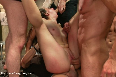 Photo number 4 from 19 year old cutie art student-first time gang bang! shot for Hardcore Gangbang on Kink.com. Featuring Mandy Muse, Tony Martinez, Marco Banderas, Xander Corvus, Dane Cross and Owen Gray in hardcore BDSM & Fetish porn.
