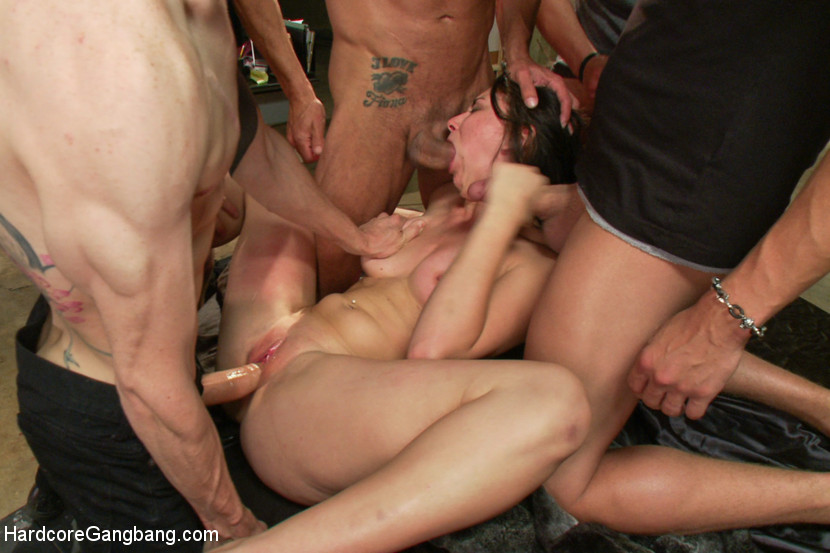 College gang bang naked