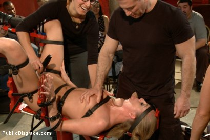 Photo number 14 from Hot and horny blonde up to a few tricks shot for Public Disgrace on Kink.com. Featuring Roxy Rox , John Strong and Ariel X in hardcore BDSM & Fetish porn.