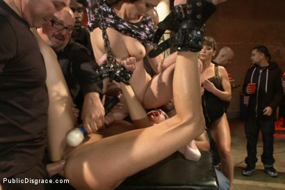 Photo number 10 from Hot and horny blonde up to a few tricks shot for Public Disgrace on Kink.com. Featuring Roxy Rox , John Strong and Ariel X in hardcore BDSM & Fetish porn.