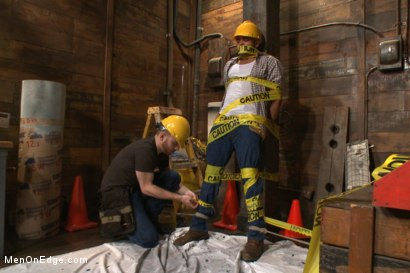 Photo number 2 from Obnoxious contruction worker gets what he deserved shot for Men On Edge on Kink.com. Featuring Brock Avery in hardcore BDSM & Fetish porn.