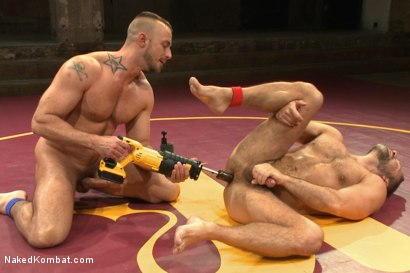 Photo number 14 from FIRST ELIMINATION MATCH OF OUR SUMMER SMACKDOWN TOURNAMENT!!! shot for Naked Kombat on Kink.com. Featuring Jessie Colter and Dirk Caber in hardcore BDSM & Fetish porn.