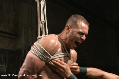 Photo number 9 from Muscled stud Brock Avery Tormented and Fucked shot for 30 Minutes of Torment on Kink.com. Featuring Brock Avery in hardcore BDSM & Fetish porn.