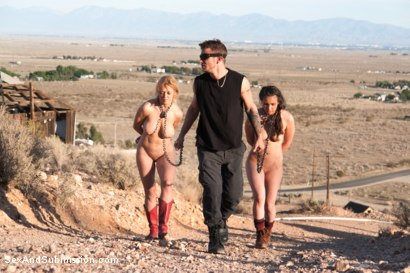 Photo number 8 from Bound for the Apocalypse shot for Sex And Submission on Kink.com. Featuring Mr. Pete, Casey Calvert  and Dee Williams in hardcore BDSM & Fetish porn.
