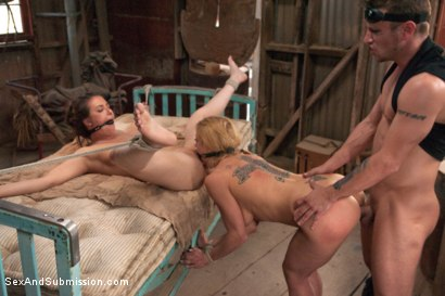 Photo number 10 from Bound for the Apocalypse shot for Sex And Submission on Kink.com. Featuring Mr. Pete, Casey Calvert  and Dee Williams in hardcore BDSM & Fetish porn.