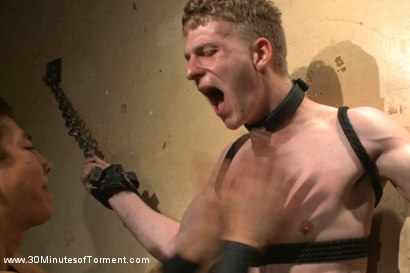Photo number 3 from Branden Forrest and the excruciating ass station challenge shot for 30 Minutes of Torment on Kink.com. Featuring Branden Forrest in hardcore BDSM & Fetish porn.