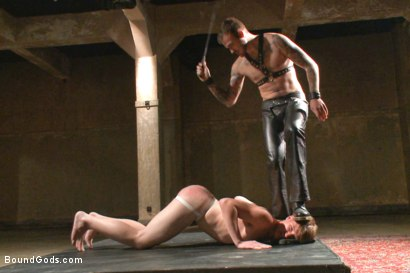 Photo number 2 from Slave Boy Initiation shot for Bound Gods on Kink.com. Featuring Christian Wilde and Dakota Wolfe in hardcore BDSM & Fetish porn.