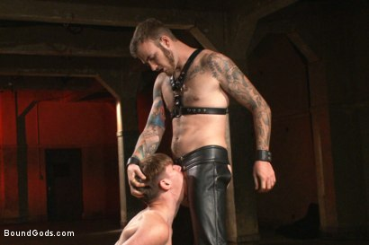 Photo number 5 from Slave Boy Initiation shot for Bound Gods on Kink.com. Featuring Christian Wilde and Dakota Wolfe in hardcore BDSM & Fetish porn.