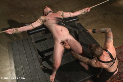 Photo number 8 from Slave Boy Initiation shot for Bound Gods on Kink.com. Featuring Christian Wilde and Dakota Wolfe in hardcore BDSM & Fetish porn.