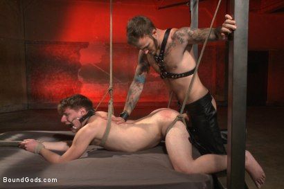 Photo number 11 from Slave Boy Initiation shot for Bound Gods on Kink.com. Featuring Christian Wilde and Dakota Wolfe in hardcore BDSM & Fetish porn.