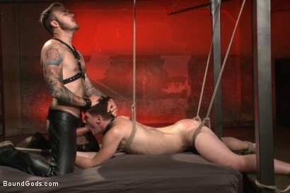 Photo number 14 from Slave Boy Initiation shot for Bound Gods on Kink.com. Featuring Christian Wilde and Dakota Wolfe in hardcore BDSM & Fetish porn.